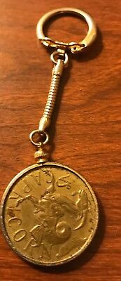 Southern Comfort Whiskey Brass Token Coin Alcohol Advertising Zodiac Astrology