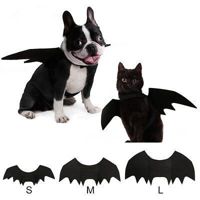 Halloween Pet Dog Cat Black Bat Wings Cosplay Costume Party Fancy Clothing Acces