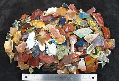 10 lbs ASSORTED ROCK SLABS - tumble mix; small pieces!!