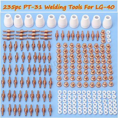 235pc PT-31 LG-40 Air Plasma Cutter Consumable Tips Electrode For CUT-50D