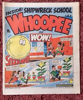 Whoopee And Wow Comic  16 July 1983. Unsold Newsagent Stock. Unread. V/fn+