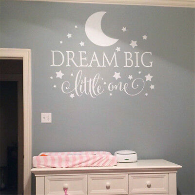 DREAM BIG LITTLE One Quotes Wall Decal Nursery Wall Sticker ...