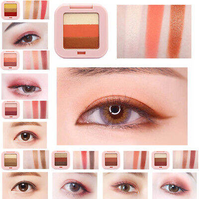 Fashion 3 Colors Mini Eyeshadow Palette Shimmer Matte Eye Shadow Eye Makeup