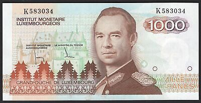 Luxembourg: Institut Monetaire. 1,000 francs. (1985). K583034. (Pick 59a). GEF.