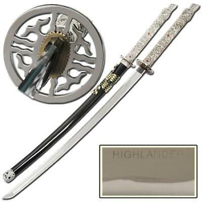 Highlander Hand Forged Closed Mouth Dragon Katana w/ Black Scabbard