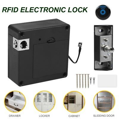 Lock Wooden Door Invisible RFID Electronic Card Cabinet Door Drawer Auto Safety