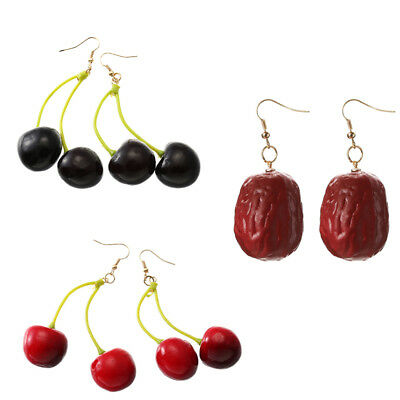 Novel Two colors Fruit Pendant Earrings For Woman Jewelry Accessories Girl Child