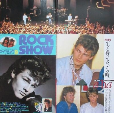1986 A-ha in JAPAN AUSTRALIA Morten Harket CLIPPING JAPAN MAGAZINE K3 P14 6PAGE