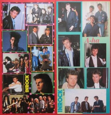 A-ha Morten Harket 1986 1989 INROCK STICKER form 2 JAPAN MAGAZINE VM