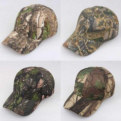 Men Women Baseball Cap Military Army Camo Hat Trucker Camouflage Outdoor Hat AU
