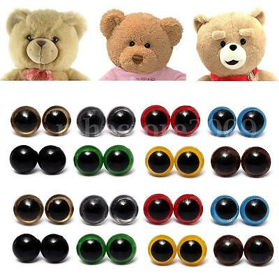 80pcs 10-18mm Color Plastic Safety Eyes Washer For Teddy Bear Doll Animal
