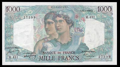 France. Banque De France. 1,000 francs. 15-7-1948. 1126127399. (Pick 130b). EF.