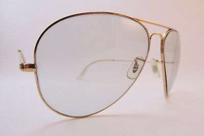 Vintage B&L Ray Ban sunglasses gold filled 1-30 10K GF etched lens USA