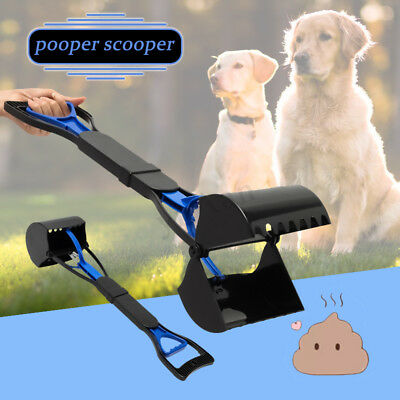 Large Jumbo Scoop Dog Waste Poop Pick up Removal Tool Pooper Scooper Grabber