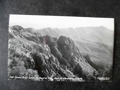 RP View from the Sandia Mountains East of Albuquerque New Mexico ca1950 Postcard