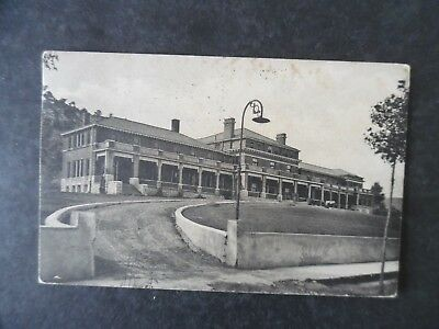 1916 Raton New Mexico Miners Hospital Postcard & Flag Cancel