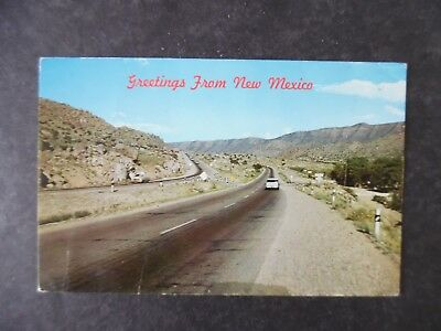 1950s Route 66 Tijeras Canyon East of Albuquerque New Mexico Postcard