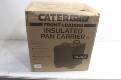 Black Front Loading Insulated Food Pan Carrier w/ Handles ( 215PANCARBLK )