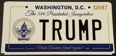 TRUMP 2017 Presidential Inauguration License Plate
