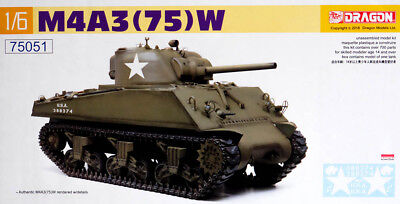 M4 Sherman M4A3 (75) W U.S. Tank Barracuda Panzer 1:6 Model Kit Dragon 75051