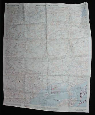 World War Ii Us Army Air Force Cloth Type Evasion Escape Map - French Indo China