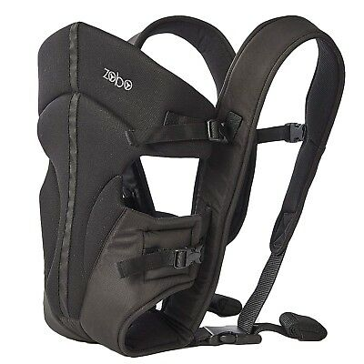 "Babies ""R"" Us Zobo 3 Position Black Baby Carrier Backpack with Adjustable Straps"
