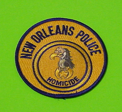 New Orleans  Louisiana  La   Homicide  Police Patch   Free Shipping!!!