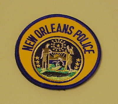 New Orleans  Louisiana  La  ( Hook & Latch Back )   Police Patch  Free Shipping!