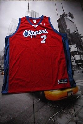 1999 Reebok Authentic Lamar Odom Los Angeles Clippers Jersey 60 4XL  7 Red  NBA 94f2130bf