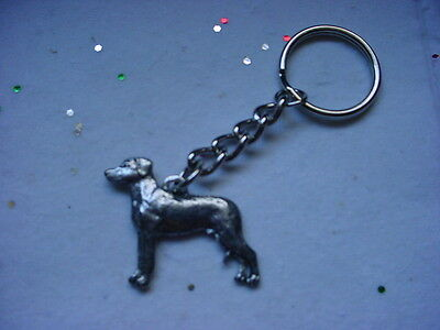 RHODESIAN RIDGEBACK Dog PEWTER Silver KEYCHAIN Christmas Ornament Key Ring puppy