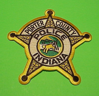 Porter County  Indiana  In  Police Patch   Free Shipping!!!