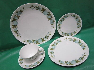 15 Piece Noritake Blue Orchard 6695 Cookin Serve China 3 Place Settings Of 5