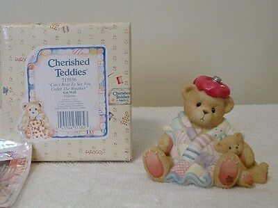 Cherished Teddies    GET WELL- UNDER THE WEATHER