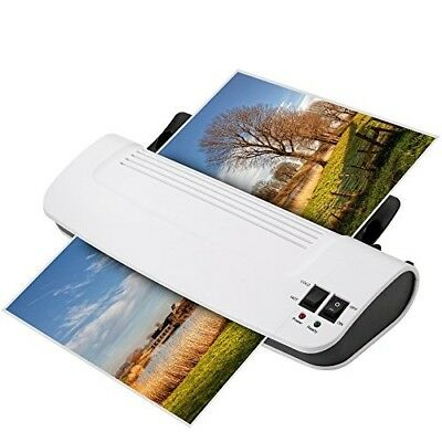 Hot Cold Thermal Laminator Machine 3-Pack Laminating Pouches Portable Warms Up 4