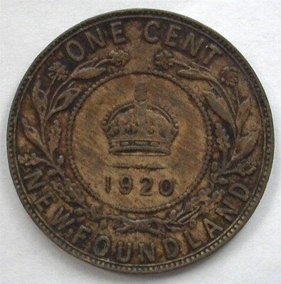 Newfoundland 1920 Cent  About Uncirculated