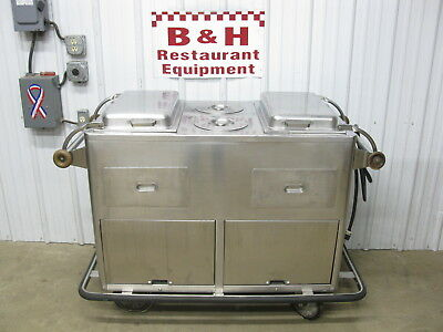Stainless Steel Mobile Warmer Cabinet Hot Dog Food Bar Warmer Concession Cart