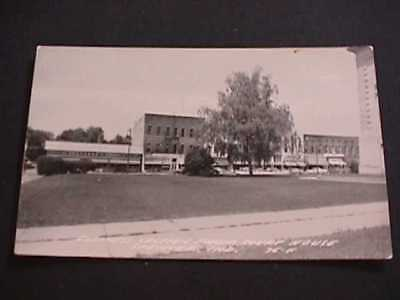 Business Section From Court House Spencer, Indiana Real Photo Postcard
