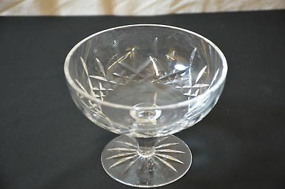 "Waterford ""lismore"" Irish Crystal 6 1/4"" Dia Compote / Footed Candy Dish #1606"
