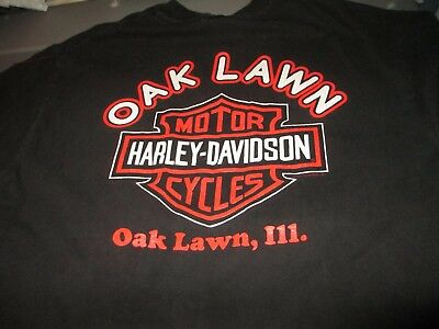 HARLEY-DAVIDSON Motorcycles Oak Lawn Illinois T Shirt Large