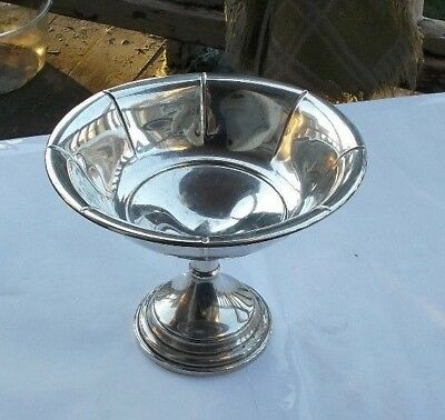"RARE Vintage 5.5"" Sterling Silver Ribbed Footed Bowl Compote Candy Dish PS Co."
