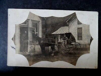 RP Post Office & Mail Delivery Man in Wagon ca1910 Postcard