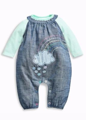 Next Baby Girls RAINBOW Dungaree Set Outfit 2 Piece NEW BNWT 9-12 Months COTTON