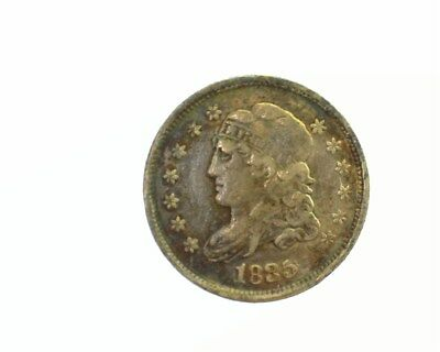 1835 Capped Bust Silver Half Dime Extremely Fine  Large Date And 5C