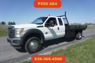 2012 Ford F550 4wd flatbed Used 11ft flatbed 6.7 powerstroke diesel extended cab