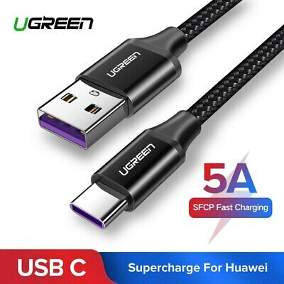 Ugreen USB C 3.1 Super Fast Charging Cable 5A Type C Data Lead for Huawei 0.5/1M