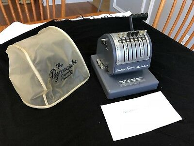 Vintage Paymaster Series X-550 Check Writer 7 Column with Key Check Writer WORKS