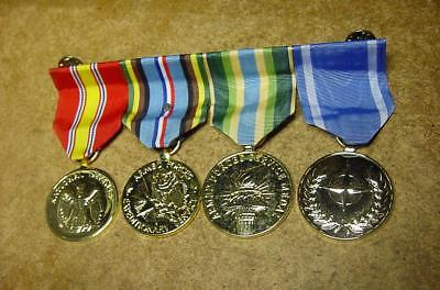 US Military 4 Campaign Service Medal Bar