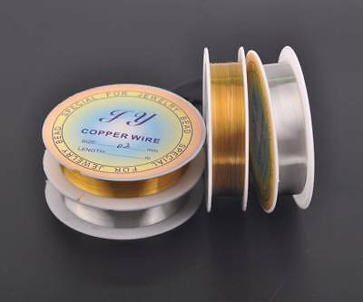 Lot Wholesale 0.2~1mm Soft Copper Wire Thread Cord Jewelry Making Findings