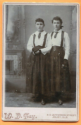 Joliet, IL, Portrait of 2 Young Women, by Fay, circa 1890s