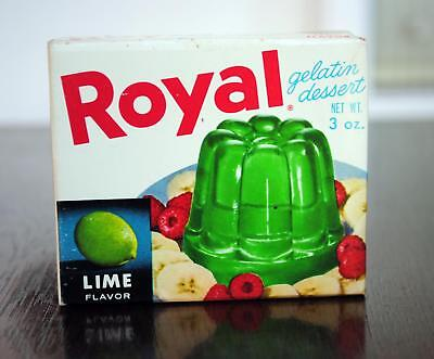 Vintage New Old Stock Royal Lime Gelatin 1960s Unopened Box 3 oz